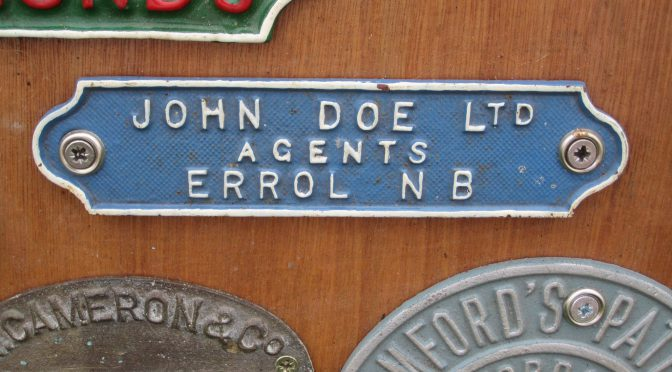 Doe: a Perthshire name