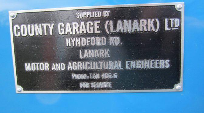 A Lanark name: County Garage (Lanark) Ltd